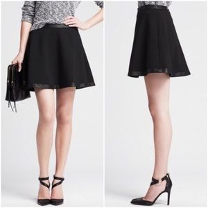 Banana Republic Faux Leather Trim Circle Skirt